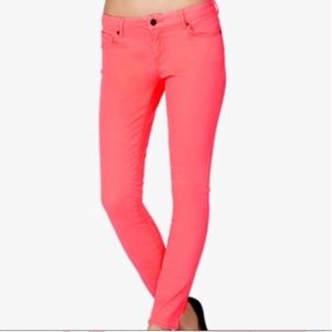 J.crew Matchstick coral jeans 29